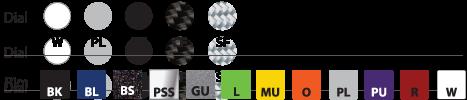 Livorsi Mega & Race Gauge Color Choices