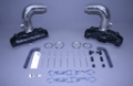STAINLESS MARINE SBC Manifolds with 6″ Taller than STD Stainless Risers Kit - 01-2210000-60