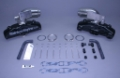 STAINLESS MARINE SBC Manifolds with Short Stainless Risers & Brackets Kit - 01-2210010-00