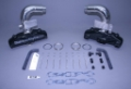 STAINLESS MARINE SBC Manifolds with 6″ Taller than STD Stainless Risers & Brackets Kit - 01-2210010-60