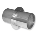 "4"" STAINLESS STEEL STRAIGHT CUT EXHAUST TIPS WITH INTERNAL FLAPS - (SOLD IN PAIRS) - 02-8125"