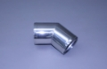 "4"" Polished Stainless Short Radius 45° Elbow"