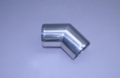 "3"" Polished Stainless Short Radius 45° Elbow"