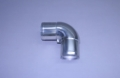 "3-1/2"" Polished Stainless Short Radius 90° Elbow"