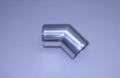 "3-1/2"" Polished Stainless Short Radius 45° Elbow"