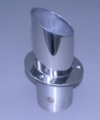 "4"" Exhaust Tip Straight flange / Angled end – 30 ͦ with Internal Stainless Super Flap - PER TIP - 03-4109031-00"