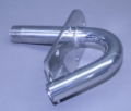 "Stainless 1"" N.P.T. Male x 1-1/4"" O.D. Single Hi-Speed Transom Mount Water Pick-up"
