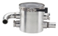 "SHORT SUPER SEA STRAINER 1 1/4"" NPT W/PRESSURE RELIEF VALVE"