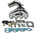 Flow Torque Dana Marine Exhaust Manifold/Long-Riser Kit, Polished - EX-101K
