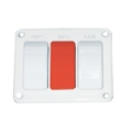 Gaffrig Trim Panel - 2 Drives - 1 Override - Switches w/ Red Override - 254