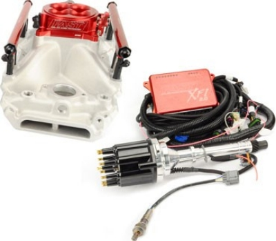 F A S T  (Fuel Air Spark Technology) EFI XFI 2 0™ EFI KIT • SMALL BLOCK  FORD 289/302CI • UP TO 550HP • POLISHED THROTTLE BODY 3031302-05P