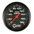 GAFFRIG 4 5/8 GPS ANALOG 180 MPH SPEEDOMETER HEAD ONLY CARBON FIBER - 4051