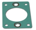 Replacement Powerflow Riser Gasket Early Style Round Hole - Per Gasket 11-1002