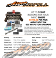 Mercruiser 500EFI Engine Upgrade Kit with AFR Heads (Parts Only) - Up to 125 HP Increase