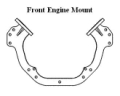 Offshore Engine Plate Mount - Front