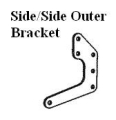 Offshore Engine Plate Bracket - Side/Side Outer