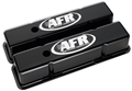 Air Flow Research (AFR) CNC Engraved SBC Tall Valve Covers, Black Powder Coat - 6705