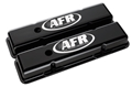 Air Flow Research (AFR) CNC Engraved SBC Standard Valve Covers, Black Powder Coat - 6707