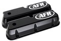 Air Flow Research (AFR) CNC Engraved SBF Tall Valve Covers, Black Powder Coat - 6715