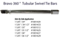 "ZEIGER 1 5/8"" TUBULAR SWIVEL BRAVO TIE BAR SIDE BY SIDE SETUP 34"" to 36.5"" DRIVE CENTERS"