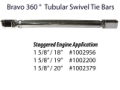 "ZEIGER 1 5/8"" TUBULAR SWIVEL BRAVO TIE BAR STAGGERED SETUP 16 3/4"" - 20"" DRIVE CENTERS"