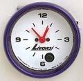 LIVORSI 2 5/8 PLUG IN CLOCK MEGA RACE GAUGE OVERSIZE