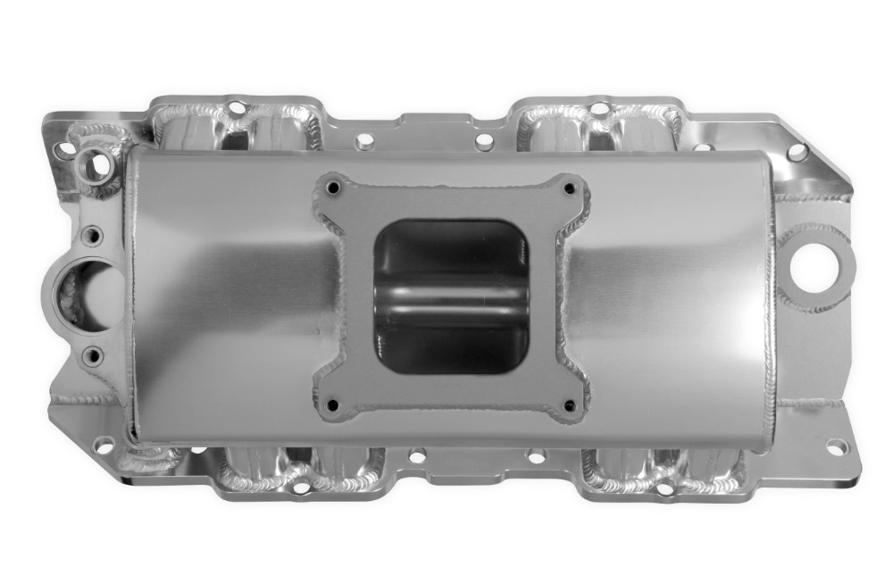 Holley Sniper Intake Manifold BBC Double Plane 2x4150 Silver