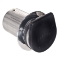 "4"" Straight Cut Exhaust Tips with Internal & External Flaps (Pair) - 02-8121"