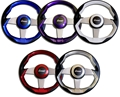 Livorsi Grimani Steering Wheel 3 Spoke - Purple - UGSWPUL