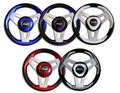 Livorsi Loredan Steering Wheel 3 Spoke - Blue - ULSWBLL