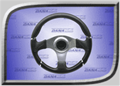 Rage Concept Series Steering Wheel - Euro Black - RGE-205