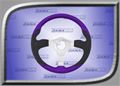 Rage Series 2 Steering Wheel - Purple - RGE-253
