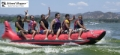 "6 MAN  ""HEAVY DUTY COMMERCIAL"" INLINE RED SHARK BANANA BOAT"
