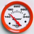 LIVORSI 2 1/16 PLUG IN TRANS TEMP 140-340F MEGA RACE GAUGE