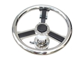 "Wheel With ¾"" Taper Stainless Hub / Carbon Fiber Center And Bottom Mounted Carbon Fiber Spokes"