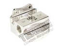 "BILLET CARB FUEL FILTER / REMOTE OIL FILTER MOUNT 3/4"" NPT, LEFT  (HP4) - TCMBIL070L"