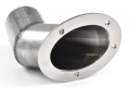 "CORSA  Marine ExhaustSIDE EXIT EXHAUST TIP 7 5/8"" x 6"" ELLIPTICAL SHAPED FLANGE - 11062"