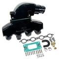 PowerFlow LS Manifold and Cast Riser Kit Black (Sold in pairs) - 02-8383