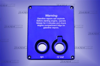 Marine Industries West Vertical Switch Panel (1) Key (1) 12V w/ Warning  Recessed - SPV-R-015