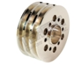 Billet Triple Groove V-Belt Crank Pulley - Supercharged