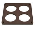 "Quick Fuel Phenolic Carb Spacer 1/4"" 4 Hole 300-4012"