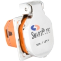 SMART PLUG 30 Amp Boat Inlet with SS Cover