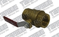 "Brass Ball Valve 1/4"" Female Pipe - THD 14FPBLVL"