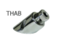 CABLE SEAL THRU-HULL FITTING SS 45 DEGREE - THAB