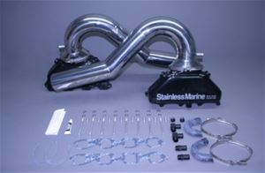 "STAINLESS MARINE BBC Gen. III Exhaust Manifolds with 1-Piece 4-1/2"" S/S Built To Fit  Tailpipes Kit - 01-3250000-00"