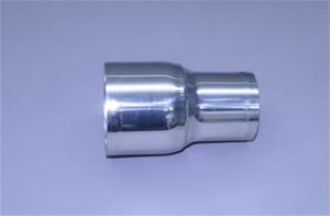 "4"" x 3-1/2"" Polished Stainless Straight Reducer"