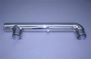 "4"" x 4"" x 4"" Polished Stainless Exhaust Crossover Collector"