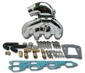 Flow Torque Dana Marine Exhaust Manifold/Short-Riser Kit, Polished - EX-100K