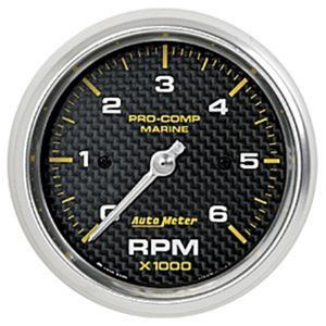 6000 RPM Tachometer 4, 6, & 8 CYLINDER Engine and 12P