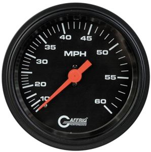 GAFFRIG 3 3/8 MECHANICAL DRY SPEEDOMETER 60 MPH  - 4002